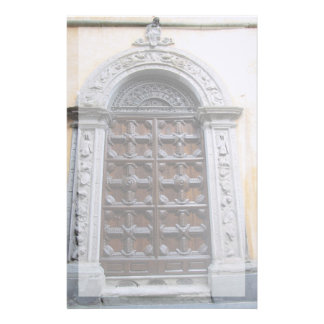 Stationery--Ornate Door With Border Stationery