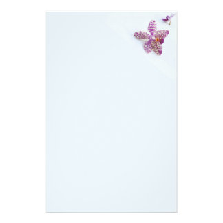 stationery pastell violet orchids