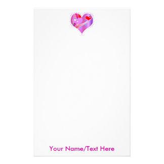 Stationery - Pink Heart, Valentine