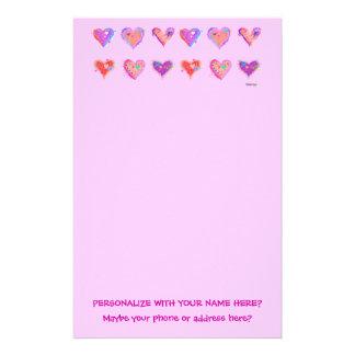 Stationery - Pop Art Crazy Hearts 2