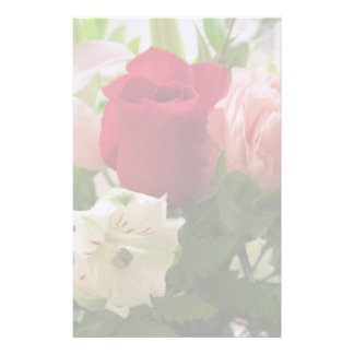 Stationery--Red Rose & Lilies Transparent Stationery