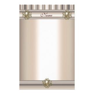Stationery Silk beige Pearl Jewel