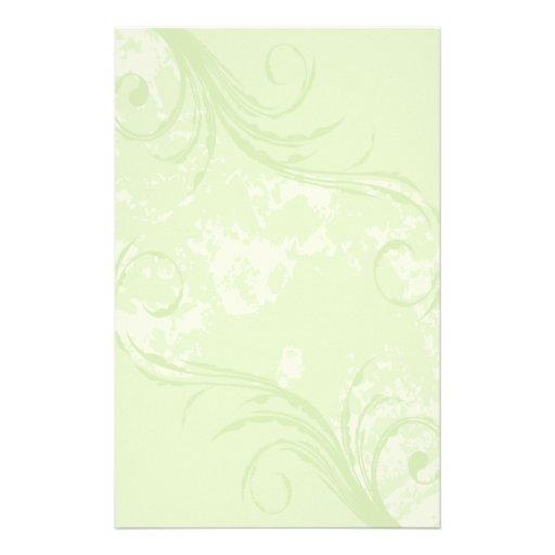 Stationery: Soft Green Swirl
