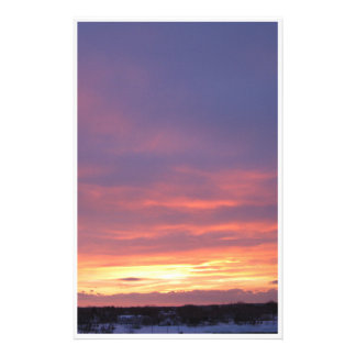 Stationery Sunset from my Window in Winter in Me.