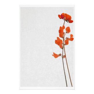 Stationery talk flowers