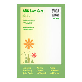 Stationery Template ABC Lawn Care