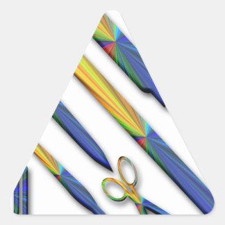 Stationery Triangle Sticker