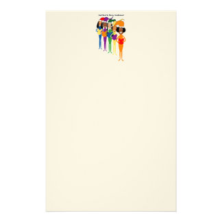 Stationery with Christmas Carollers
