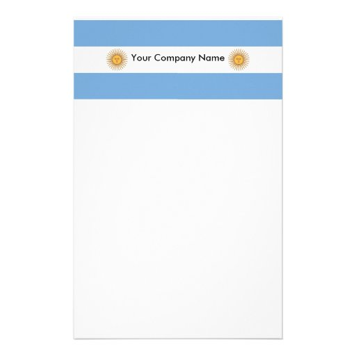 Stationery with Flag of Argentina