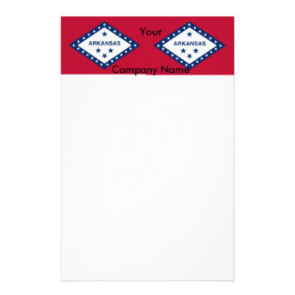 Stationery with Flag of Arkansas