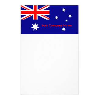 Stationery with Flag of Australia