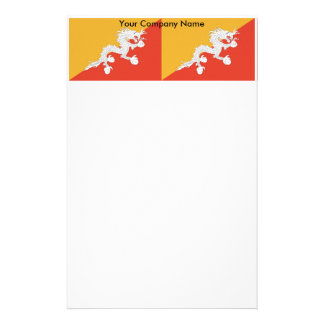 Stationery with Flag of Bhutan