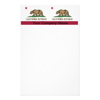 Stationery with Flag of California