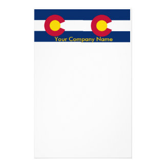 Stationery with Flag of Colorado