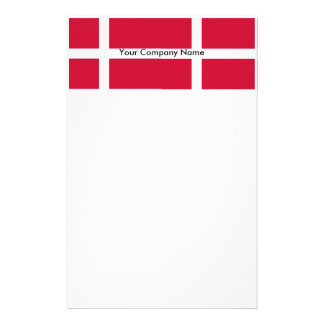 Stationery with Flag of Denmark