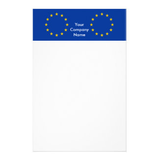 Stationery with Flag of European Union