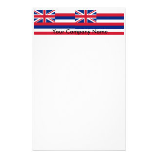 Stationery with Flag of Hawaii