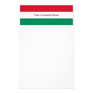 Stationery with Flag of Hungary