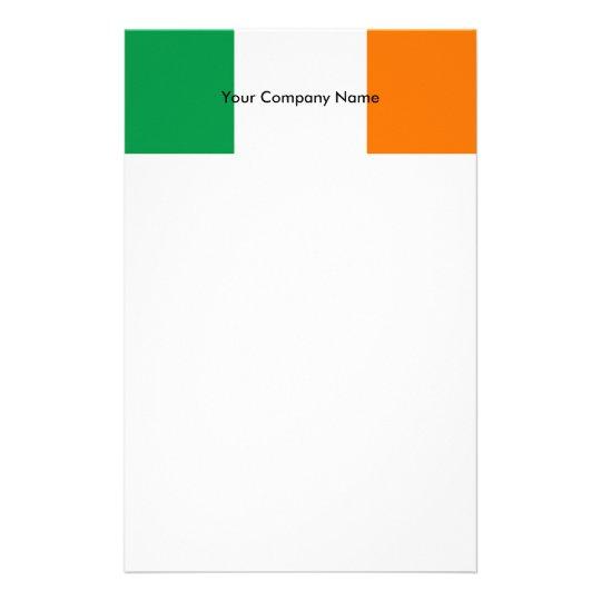 Stationery with Flag of Ireland