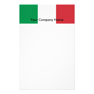 Stationery with Flag of Italy