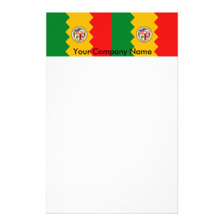 Stationery with Flag of Los Angeles, California
