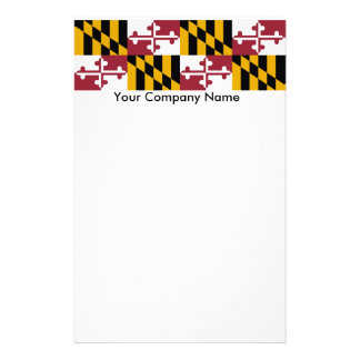 Stationery with Flag of Maryland