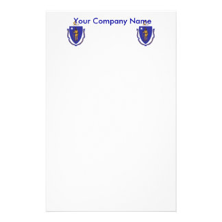 Stationery with Flag of Massachuttes