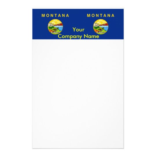 Stationery with Flag of Montana