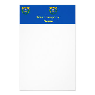 Stationery with Flag of Nevada