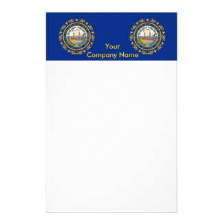 Stationery with Flag of New Hampshire