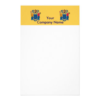 Stationery with Flag of New Jersey