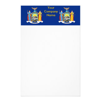 Stationery with Flag of New York