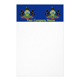 Stationery with Flag of Pennsylvania