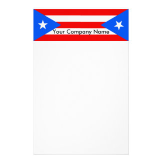 Stationery with Flag of Puerto Rico