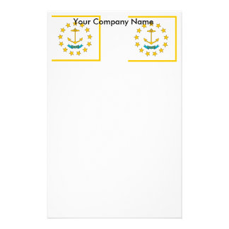 Stationery with Flag of Rhode Island