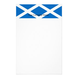 Stationery with Flag of Scotland