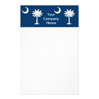 Stationery with Flag of South Carolina