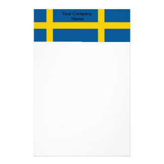 Stationery with Flag of Sweden