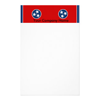 Stationery with Flag of Tennessee