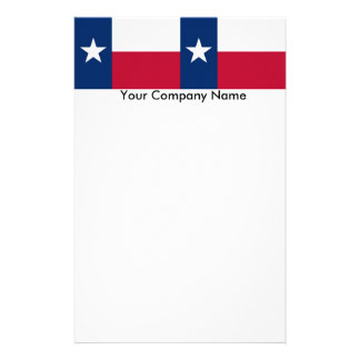 Stationery with Flag of Texas
