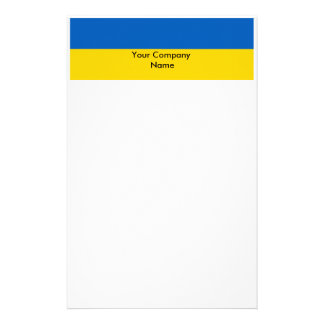 Stationery with Flag of Ukraine