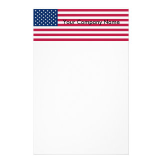 Stationery with Flag of United States of America