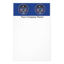 Stationery with Flag of Utah