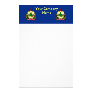 Stationery with Flag of Vermont