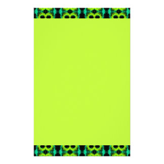 Stationery with Fun Green Pattern