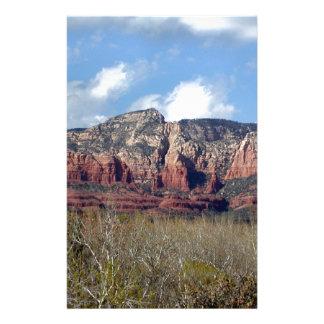 stationery with photo of Arizona red rocks