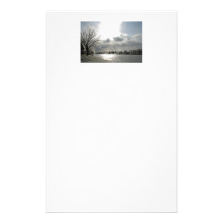 stationery with photo of icy winter landscape