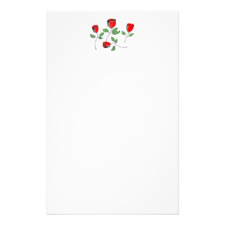 Stationery with Roses Header