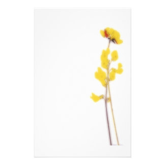 Stationery with yellow flowers