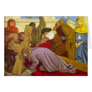 Stations of the Cross 9 Jesus Falls the Third Time Card